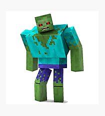 Minecraft Zombie Horror Videogame Photographic Print