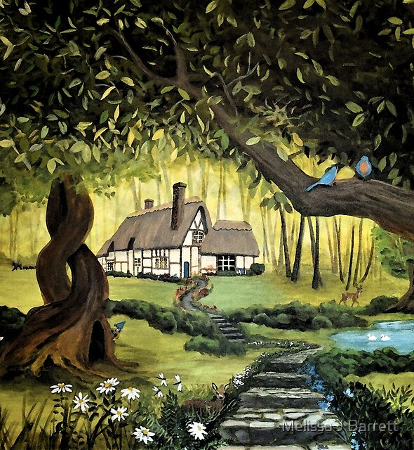 Whimsical Cottage in the Enchanted Woods by Melissa J Barrett