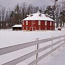 The Red Round Barn by shawng13
