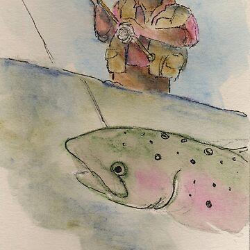 Flyfishing: The Battle by salamandaz