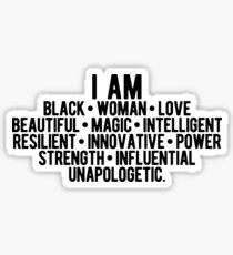 Ich bin eine schwarze Frau | Starke Frau | Afroamerikaner Sticker