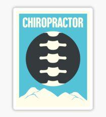 Vintage Chiropractor Chiropractic Spine Poster Sticker