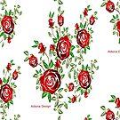 Fun cartoon Sticker & roses  by aldona