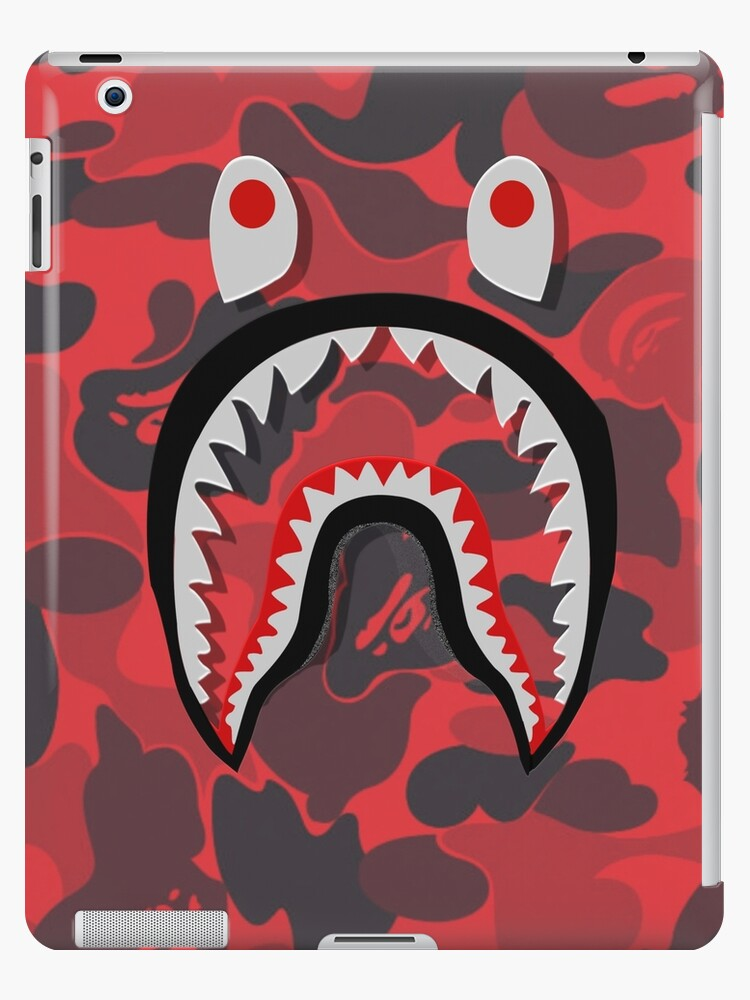 new concept c1a69 9f2a3 'red bape shark' iPad Case/Skin by TerrykSanders