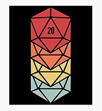 Retro d20 | Roleplaying Board Game Dice Photographic Print