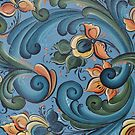 Telemark Rosemaling from Norway by Forestwood