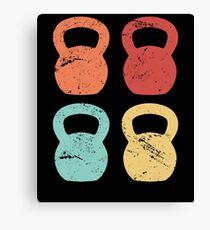 Kettlebells Abstract Art Shirt, Cool Fitness and Gym  T-Shirt Canvas Print