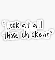 Vine reference- chickens Sticker