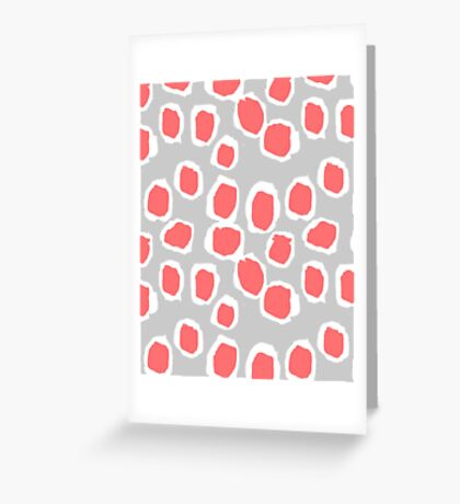 Zola - Abstract painted dots, painterly, bold pattern, surface pattern, print pattern design Greeting Card