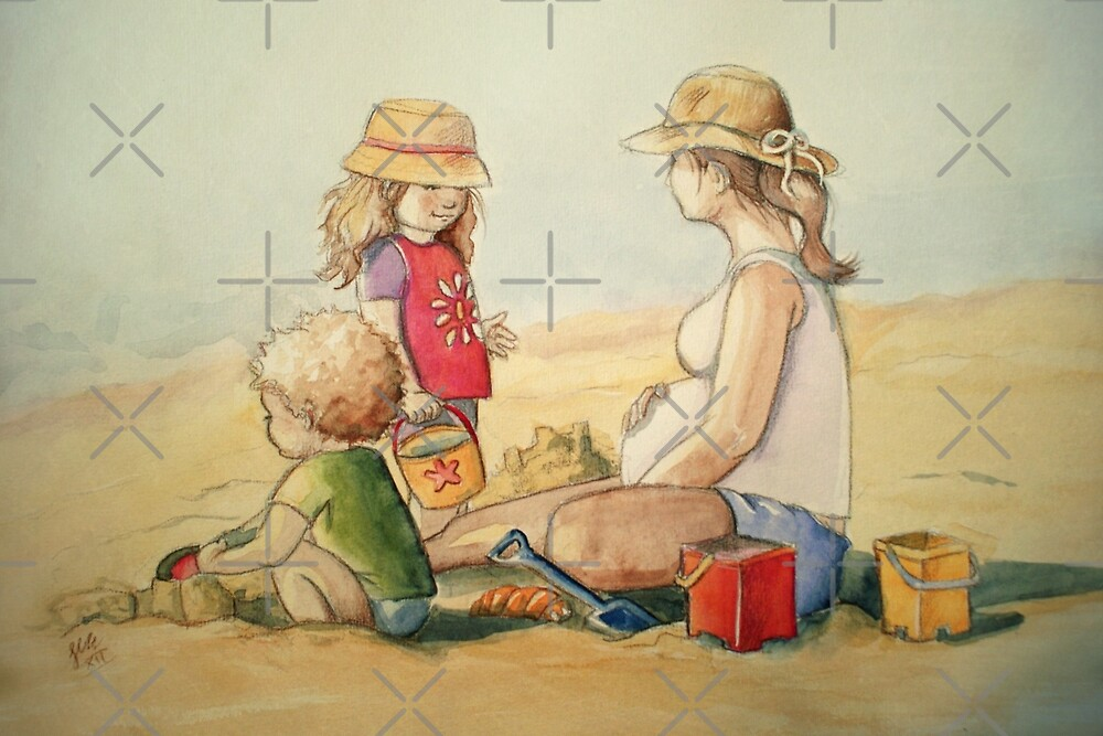 Almost Three by Sarah  Mac Illustration