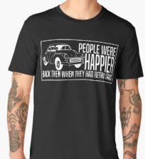 People Were Happier Retro Cars T-shirt Men's Premium T-Shirt