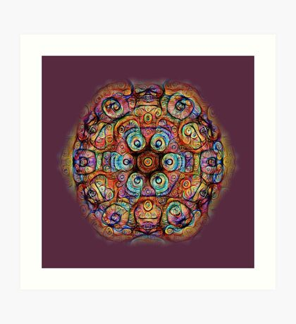 #DeepDreamed Amulet Art Print