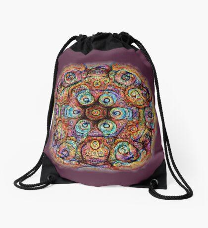 #DeepDreamed Amulet Drawstring Bag