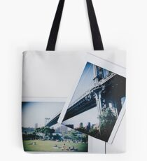 Polaroid Cut+Paste - Manhattan Overpass- Zackattack Tote Bag