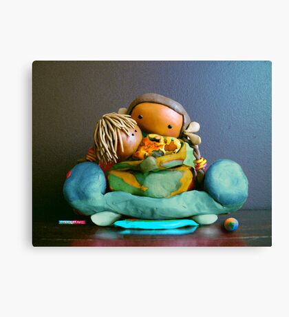CHUNKIE Mother and Boy Child Canvas Print