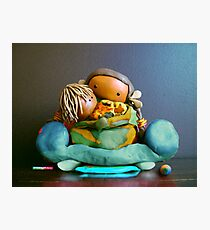 CHUNKIE Mother and Boy Child Photographic Print