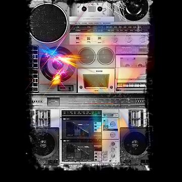 80's BOOMBOX MUSIC STEREO GHETTO BLASTER  by timstriker
