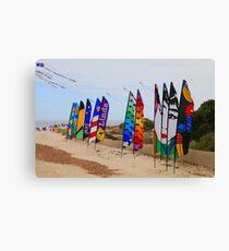 Kite festival flags Canvas Print