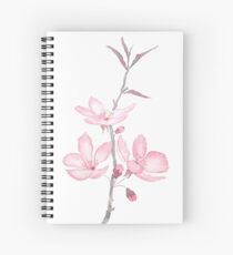 pink cherry blossom macro 2018 Spiral Notebook