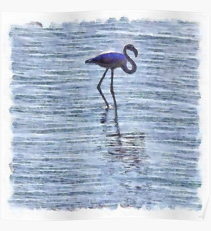 Stand Tall Flamingo Watercolor Poster
