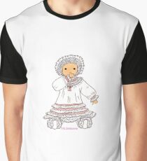 19th century girl in traditional costume of France Graphic T-Shirt