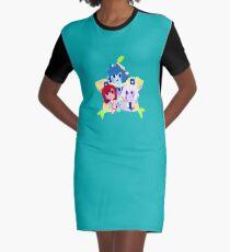 Destiny Trio- Stars and Paopu Graphic T-Shirt Dress