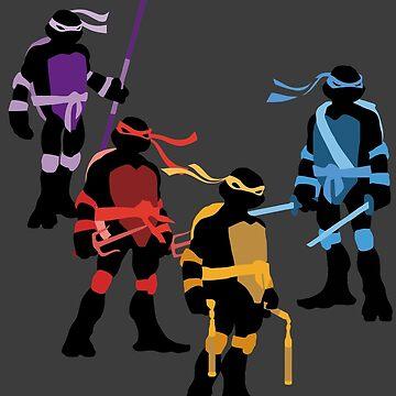 Classic TMNT Silhouettes by miztak