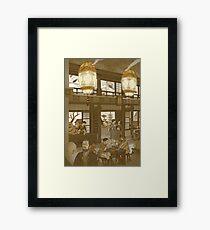 The Heavenly Lotus Tea House Framed Print