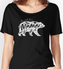 Mama Bear Floral Women's Relaxed Fit T-Shirt