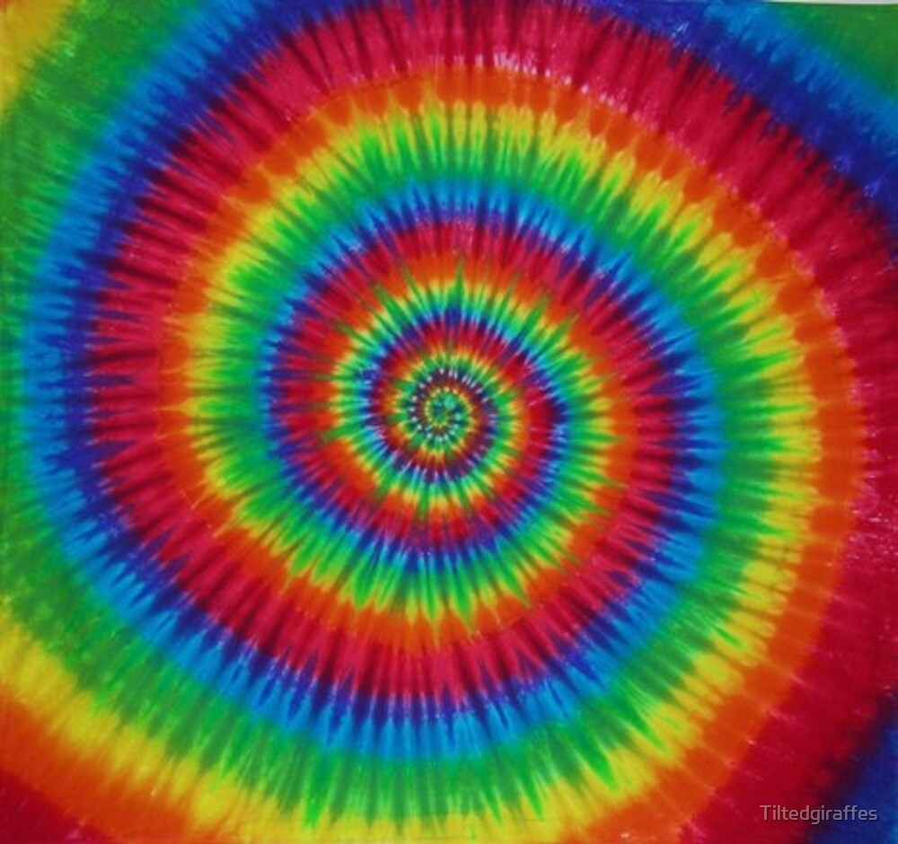 Tie dye incandescent by tiltedgiraffes redbubble - Tie and dye colore ...