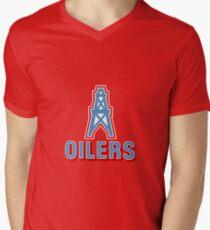 Oil Industry Hockey Team from Edmonton Men's V-Neck T-Shirt