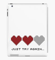 8bit Hearts - Just try again iPad Case/Skin