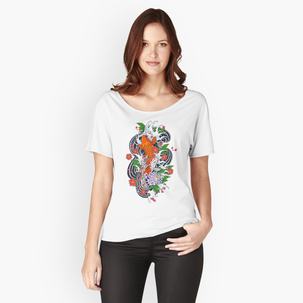 Koi Fish Pond  Relaxed Fit T-Shirt