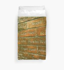 Howlin Wolf on the wall of fame Duvet Cover