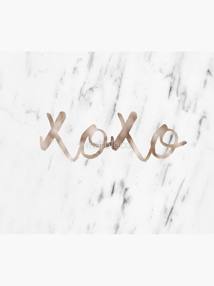 Rose gold marble XOXO by marbleco
