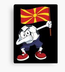 Macedonia Dabbing Soccer Ball Canvas Print