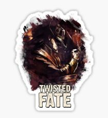 TWISTED FATE - League of Legends [white background edition] Sticker