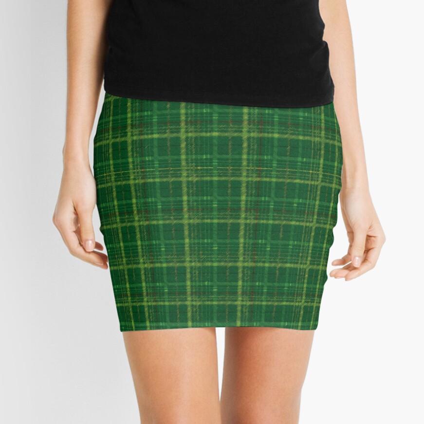 irish style tartan Mini Skirt