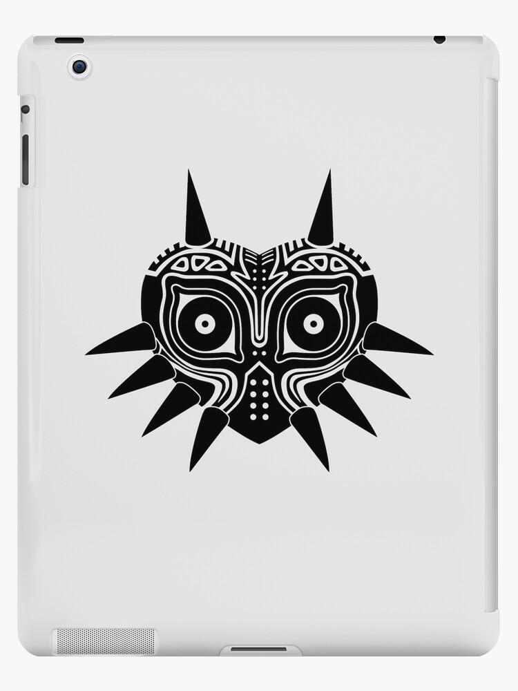 Vinilos y fundas para iPad «Máscara de Majora (tatuaje, negro)» de ...