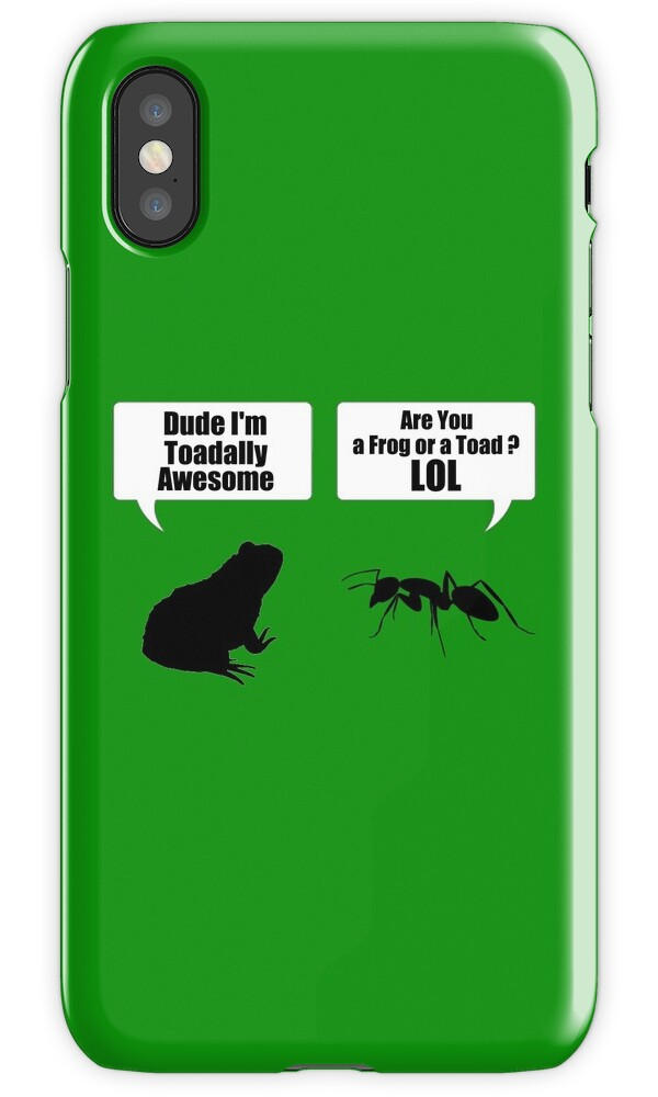 dude im toadally awesome black toad ant phone cases skins iphone cases skins by. Black Bedroom Furniture Sets. Home Design Ideas