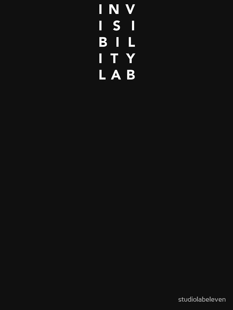 INVISIBILITY LAB'S WHITE LOGO by studiolabeleven