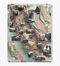 Unique Map of California (1888) iPad Case/Skin