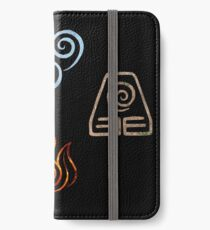 The four Elements Avatar symbols iPhone Wallet/Case/Skin