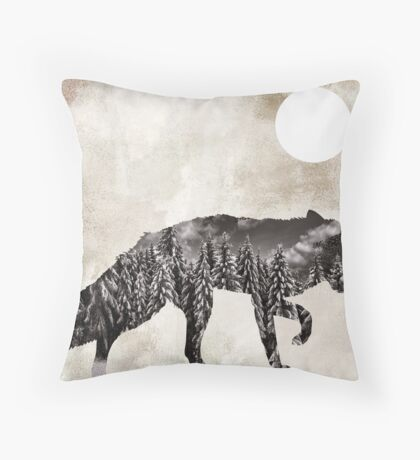 Going Wild Fox Throw Pillow
