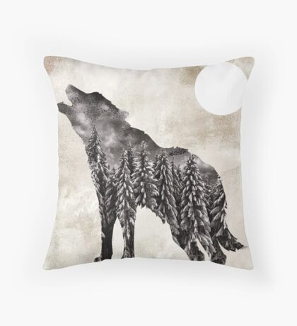 Going Wild Wolf Throw Pillow