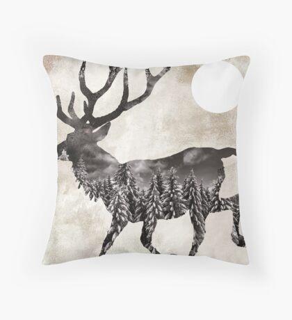 Going Wild Deer Throw Pillow