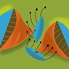 Mid Century Modern Trumpet Motif 3 by Michael Pfleghaar