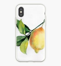 Branch of  lemons with leaves iPhone Case