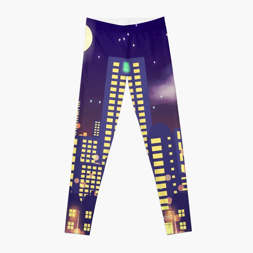 Nighttime Cityscape Leggings