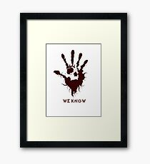Dark Brotherhood Skyrim - We Know Framed Print